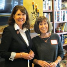 Representative Ann Kirkpatrick visited with SaddleBrooke Democrats at the home of Rollie Prager.
