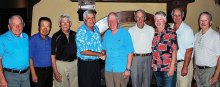 Gross Score Winners, left to right: Doug Swartz, Ted Shin and Marc Webb, Larry Crum and Bill Clarkin, Tom Albaugh and Dave Bentzel and John Pavlak and Roy Stigers (missing Bill Lich)