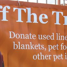 Your used linens and things will help homeless pets.