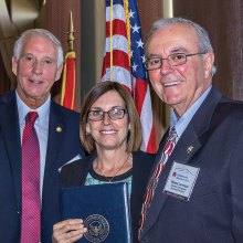 Congresswoman McSally with Mike Stites and Wayne Larroche, officers of SBRC