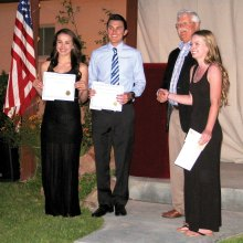 Left to right: Brittany Paton, Derek Pacheco, Steve Groth and Sidney Chenoweth