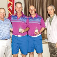 Left to right: Dennis Marchand, winners Mick Borm and Rob Anderson, Mike Jahaske