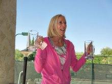Debbie McGeehan serves up cold beverages.