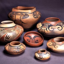 Southwest Indian pottery will be displayed on January 21.