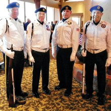 Honor Guard at the veterans lunch
