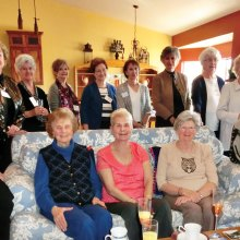 The British Club gathered at the home of Ethel Willmot for coffee and a book exchange.