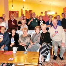The British Club gathered for a farewell party for departing members.