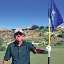 Bob Edelblut showing off his first Ace