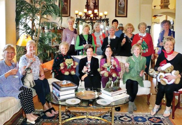 Seventeen ladies enjoyed a holiday coffee morning at the home of Twink Gates-Zimdar.