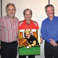 "Left to right: Jim Morris (artist), Joe ""Fast Eddie"" Giammarino, Dominic ""The Doctor"" Borland"
