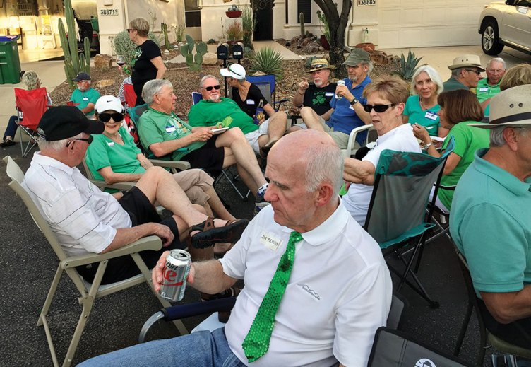 Shades of green were everywhere at the Villas II St. Patrick's Day Party.
