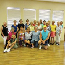 Monday afternoons bring these intrepid dancers out to enjoy the exercise and fun in Line Dance class with Rebecca. Fun continues through all the summer heat; hope the A/C has been serviced!
