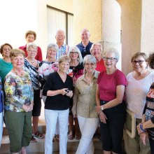 Back, left to right: Elise Grimes, Steve Groth, Larry Richter; middle: Vivian Errico, Marcia Van Ommeran, Sandy Miller, Melanie Stout, Karen Green; front: Joan Roberts, Ann Coziahr, Betsy Lowry, Anne Everett, Cheryl Smith, Trish Parker, Nancy McCluskey-Moore