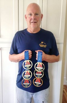 Doug Springer swam six events and received six gold medals.