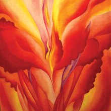 Red Canna, by Georgia O'Keeffe