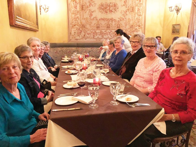 Villas II ladies enjoy dinner at Cucina Rustica in Sedona