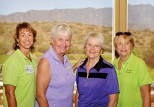 SaddleBrooke winners Janet Williams, Julie Egolf, Abbie Egolf, Sue Spaniol