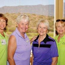 SaddleBrooke winners Janet Williams, Julie Egolf, Abbie Egolf, Sue Spaniol