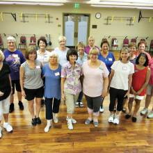 Hot stuff! 105 degrees outside, 70 on the dance floor. The Thursday level 1 class has learned four dances and about 30 skills in the first three weeks of the summer. See the fun and friends on the dance floor at DesertView Fitness.