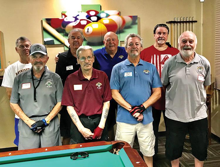 PPB Travel Team (left to right): Steve Searl, Phelps L'Hommedieu, Gary Barlow, Joe Giammarino, Fred Dianda, Dominic Borland, Tom Barrett, and Ron Ridge.