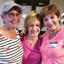 Left to right: Sue Fredrickson, Linda Bailey, and Gail Bouffard.