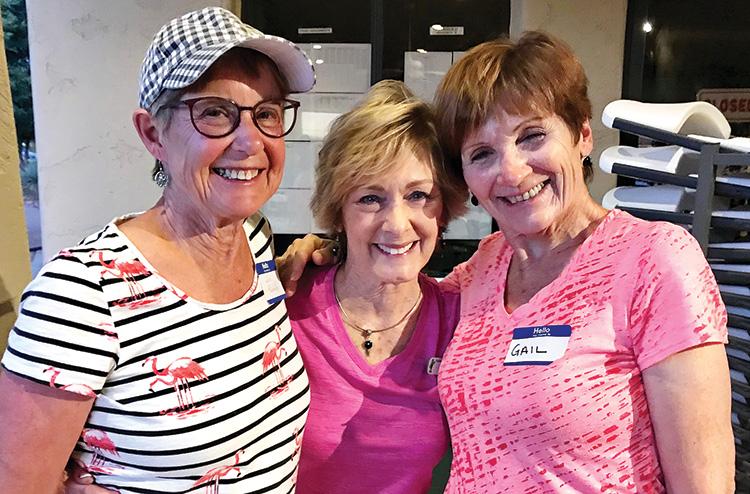 Left to right: Sue Fredrickson, Linda Bailey, and Gail Bouffard.