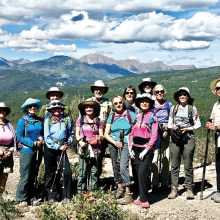 Hikers on Animas Mountain. Photo by Ann Swagman.