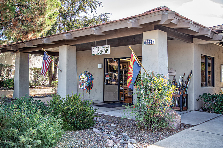 The SaddleBrooke Gift Shop exterior and entrance; photo by Russell C. Stokes.