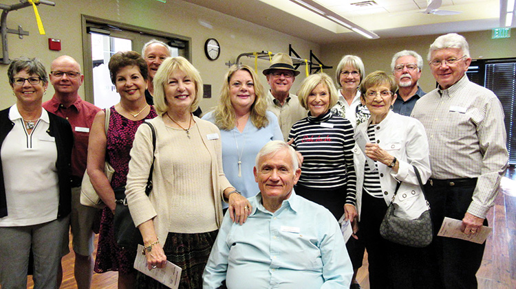 Left to right: Lori and Michael Eby, Charlotte and Randall Graham, Donna and Robert McPherson, Barbara Vinyard, Stuart and Gale Orr, Linda and Roger Shamburg, Julie and Theodore Johnson; Not pictured: Larry Vinyard, Larry and Sandra Bickelhaupt, and Wendy Higgins.
