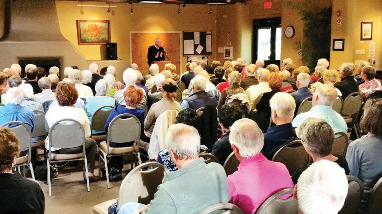 The January meeting of the Freethinkers addressed Income Inequality presented by Dr. John E. Schwarz.
