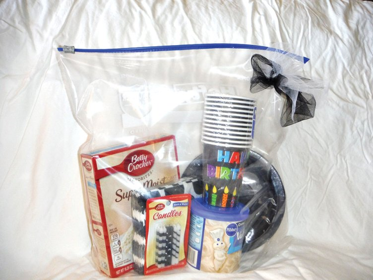 A birthday cake package