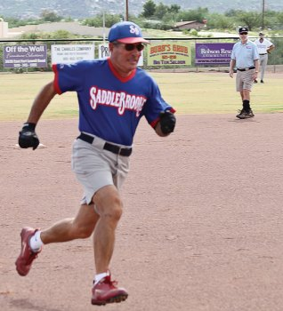 Q has been rounding the bases for 20 years of SB teams. Photo by Allan Kravitz