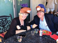 His and Her horseheads were worn by Char and Dennis Eckmeyer.