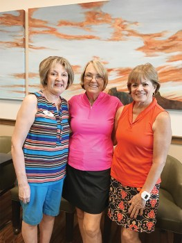 Left to right: Linda Nicholson, membership coordinator; Tove Pape, lead captain and Janice Neal, group coordinator.