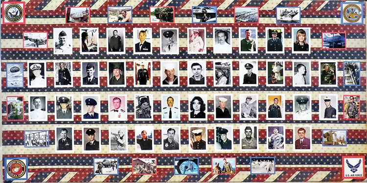 One of the Veteran's Day picture boards from 2017.