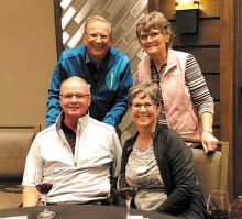 First place winners (front): Mike and Lori Eby, (back): Larry and Sandee Bickelhaupt (photo by Camille Esterman and Connie Garrison)
