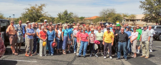 """Memebers of SaddleBrooke Squares gather for our """"Mystery Trip."""""""