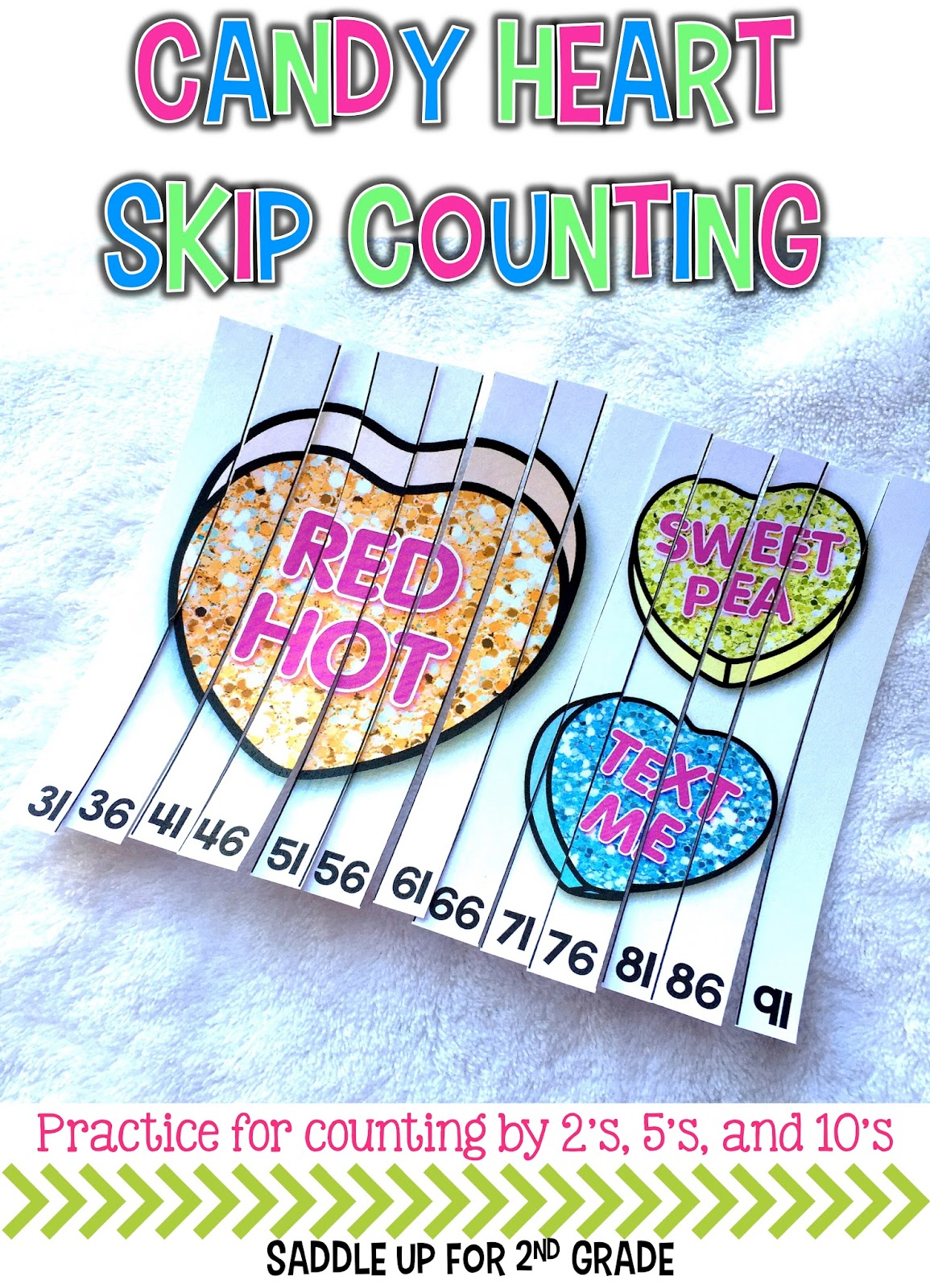 Candy Heart Skip Counting Puzzles