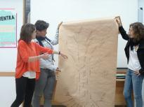 Voluntarias exponiendo el proyecto