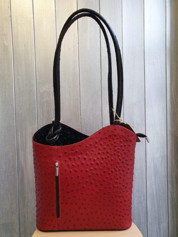 Patty Italian Leather Handbag and Backpack