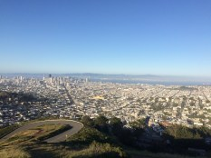 The view from the top of Twin Peaks