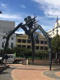 Film props placed round Wellington City