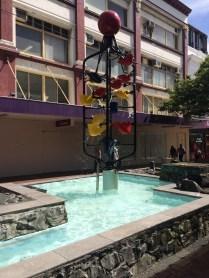 Water feature down Cuba Street, Wellington