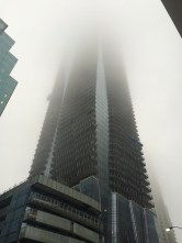 Downtown Toronto on a misty day