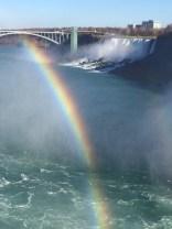 Rainbows reflected at Niagara Falls