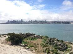 View of San Francisco skyline from Alcatraz Island