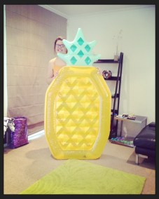 My sister blow up Pineapple! Christmas pressie