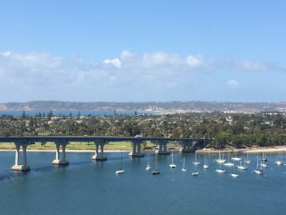 The bridge between San Diego and Coronado Island