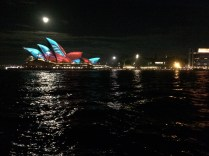 Sydney Opera House illuminated by Vivid Lights, Music and Ideas