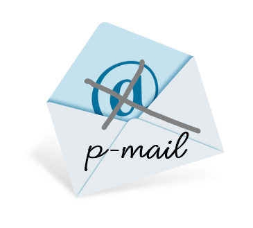 An envelope with p-mail